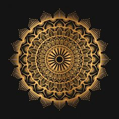 Arabesque Geometric Mandala In Golden Color Sun Mandala, Mandala Meditation, Geometric Mandala, Mandala Design, Mandala Artwork, Mandala Painting, Mandala Drawing, Creative Poster Design, Design Art
