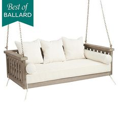 Where can I find porch swing? Shop Ballard Designs for the perfect porch swing and outdoor hammock for stylish outdoor relaxation!