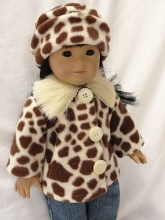 American Girl Doll Clothes Brown and Cream