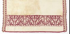 Towel, 16th century Cooper-Hewitt  silk embroidery, linen foundation; H x W: 133.3 × 69.3 cm (52 1/2 × 27 5/16 in.); 1931-27-1