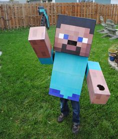 DIY Minecraft Costume. Step by step instructions.