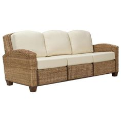 I pinned this Cabana Sofa in Honey from the Wicker, Cane & Rattan Furniture event at Joss and Main!