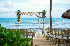 CBG180 Weddings Riviera Maya Romantic Beach Wedding Ceremony Gazebo / Gazebo romantico  para la playa