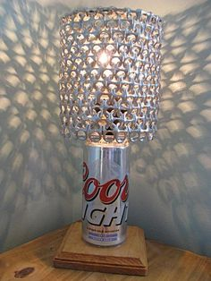 Coors Light Beer Can Lamp With Pull Tab by LicenseToCraft on Etsy, $37.00