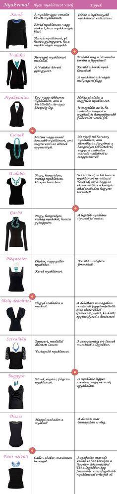 Nyaklánc vs. nyakkivágás - avagy hogyan válassz a ruhádhoz nyakláncot?