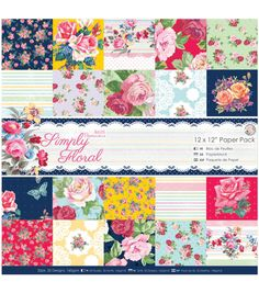 Papermania Simply Floral Paper Pack 12''x12''