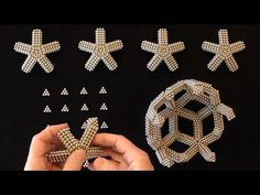Mathnetism's Rhombic Triacontahedron (Zen Magnets) - YouTube Beading Tutorials, Beading Patterns, Crochet Art, Beaded Jewelry, Zen, Diamond Earrings, Crafts For Kids, Balloons, Projects To Try