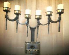 Patina Chevrolet Script Valve Cover DESK Lamp by FrostAutoDecor