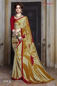 Party Wear Multi-Colour Crepe Silk Saree  - SUSHMA-1906-A
