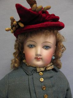 """19"""" Early All Orig.Clothes on Francois Gaultier FG French Fashion Doll c1878"""