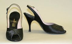Department Store: Saks Fifth Avenue (American, founded 1924) Date: 1955–60 Culture: American Evening shoes