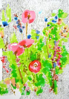 Floral Doodle 2 - Flower Illustration - Archival A4 Print from original illustration. $27.00, via Etsy.