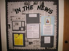 Need some new classroom bulletin board background ideas? Check out this fun roundup of (maybe) new-to-you suggestions f Newspaper Bulletin Board, Science Bulletin Boards, Summer Bulletin Boards, Bulletin Board Display, Middle School Classroom, Classroom Bulletin Boards, New Classroom, Classroom Displays, Science Classroom