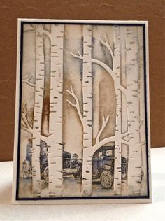 Woodland Cars: Embossing Folder - Male Card