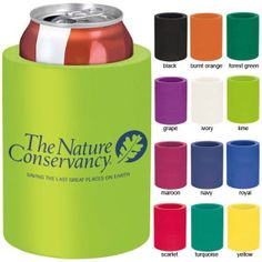 Customize this promotional Koozie can cooler and promote your company at your next trade show. Brought to you by ShopletPromos.com - promotional products for your business.