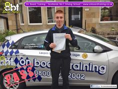 OBT Driving Instructor Callum Miller helped Johny pass his driving test on Monday 5th August 2014. On Board Training is Scotland's Number 1 Driving School. We provide all manner of driving lessons from normal on road lessons for those aged 17 and older plus our famous under age driving lessons for kids aged from 10 to 16. Get in touch to learn and pass with the best :) www.onboardtraining.co.uk