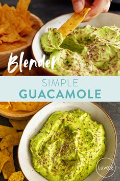 Simple guacamole Whole Food Recipes, Healthy Recipes, Green Chilli, Ripe Avocado, Fresh Coriander, Fresh Green, Serving Dishes, Guacamole, Food Inspiration