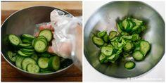 Sautéed Korean Cucumber Side Dish - Easy, simple, crunchy and delicious stir fried Korean cucumber salad. Korean Cucumber Side Dish, Stir Fry Cucumber, Korean Cucumber Salad, Fried Cucumbers, Korean Vegetables, Korean Kitchen, Side Dishes Easy, Korean Food, Vegan Gluten Free