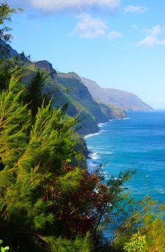 Na Pali Coast - Kauai, Hawaii.... I hiked this...The hardest yet most Beautiful thing I have ever done!