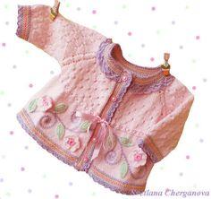 Knitting Baby Vest Hand knit baby sweaterknitted baby sweater by Svetlanababyknittin...
