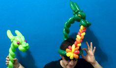 Fire-Breathing Dragon Balloon Hats!
