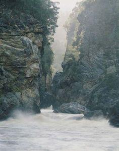 "The Wilderness Gallery - Photograph by Peter Dombrovskis   ""Gordon Splits, Southwest Tasmania"" from exhibition in Tasmania, Australia   2006-2007"