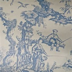 Lot of 18 Rolls Lee Jofa Historic Asian Chinoiserie Toile Wallpaper @ 80% Savings!