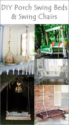 Dishfunctional Designs: This Aint Yer Grandmas Porch Swing! DIY Swing Beds & Chairs
