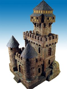 Mistral Fantasy World: Photo Gallery Minecraft Castle, Minecraft Plans, Minecraft Blueprints, Medieval Tower, Medieval Castle, Toy Castle, Small Castles, Chateau Medieval, Wargaming Terrain