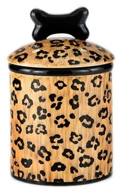 Animal Print Dog Treat Jar