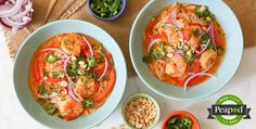 Thai Red Curry with Shrimp and Rice Noodles Recipe from Peapod