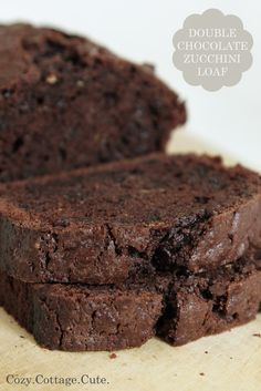 Double Chocolate Zucchini Loaf...veggies masked with tons of chocolate?  Okay, twist my arm.
