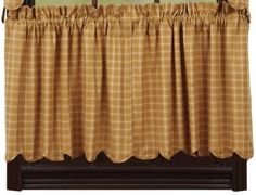 """Amherst Scalloped Lined Tier Curtains 24"""""""