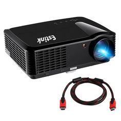 Top 10 Best Projectors Under 200 Dollar: 2. Portable Video Projector Full HD Home Cinema Projectors Native 720P High Deff Support 1080P 2500 Lumens 200