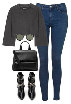 """""""Başlıksız #1257"""" by zeynep-yagmur ❤ liked on Polyvore featuring Topshop, adidas Originals, Ray-Ban, Givenchy and Yves Saint Laurent"""