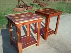 Cedar Side Tables