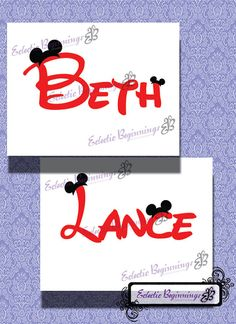 Personalized and Custom Disney Ears Name Digital File, DIY Print Iron On-Mickey Mouse Minnie Mouse Ears Letters