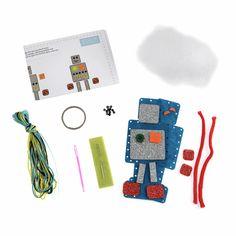 Picture of Felt Decoration Kit: Robot Craft Kits For Kids, Crafts For Kids, Make Your Own, Make It Yourself, Blue Crafts, Minerva Crafts, Felt Owls, Felt Decorations, Felt Crafts