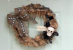 burlap wreath halloween - Google Search