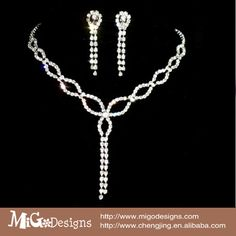 Migodesigns 18K White Gold Plated Austria Crystal Jewelry Sets For Wedding