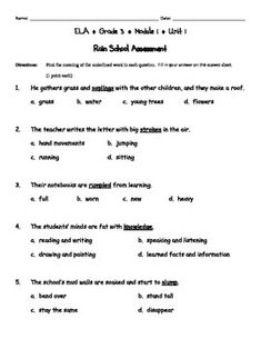 Engage ny third grade ela module 2 vocabulary by diane taylor engage ny third grade ela module 1 assessments publicscrutiny Images