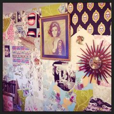 This was a cool wee interior job I did with new and vintage wallpapers collaged together :)
