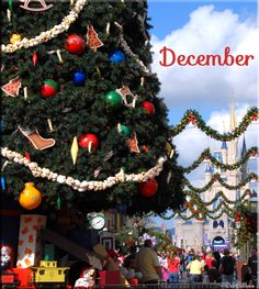 December Calendar Shot - Main Street USA, Magic Kingdom with Focused on the Magic #DisneyChristmas
