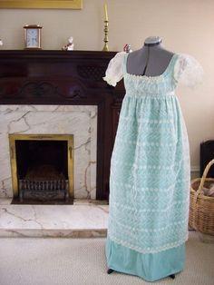 Emma  Custom Regency Lace Dress by EleanorsBox on Etsy, $380.00