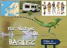 Els Viatges del Basilisc, organitzats per EUropa en autocaravana. Obra d'en Joan Balagué.