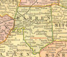 Nelson county kentucky 1905 map bardstown ky bloomfield boston barren county kentucky 1905 map glasgow ky austin cave city hiseville publicscrutiny Images