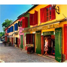 Shops in Szentendre Budapest Hungary Beautiful World, Beautiful Places, Places To Travel, Places To Go, Photo Voyage, Colourful Buildings, Unusual Buildings, Beautiful Buildings, Beaux Villages
