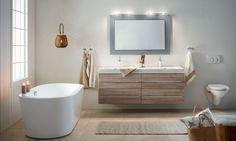 Linn Bad - Baderom frå Vik i Sogn Corner Bathtub, Bathroom, Home, Photos, Images, Google, Navy Blue Bathrooms, Zen Bathroom, White Wall Tiles