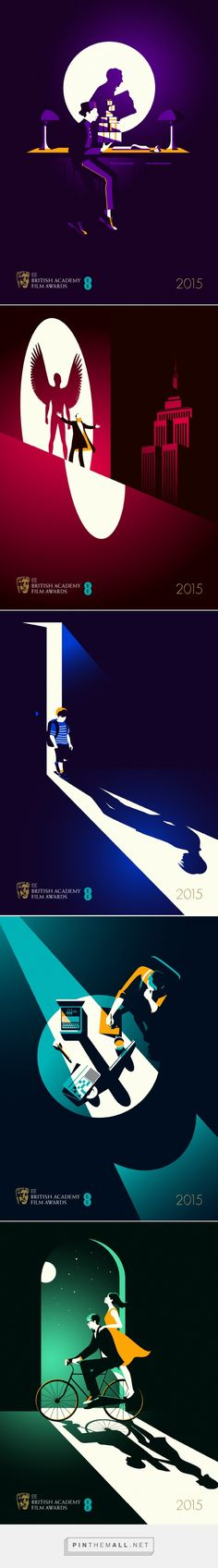 Illustrations Movie Posters for BAFTA 2015