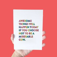 Be awesome today //